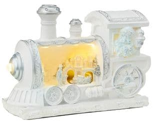 PREMIER LB192042  26.5Cm Animated Train With Xmas Scene